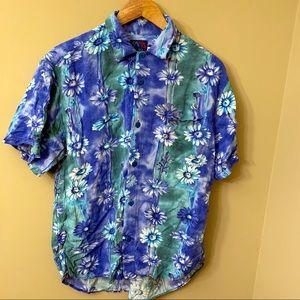 Jams World Hawaiian Island Shirt Medium Floral